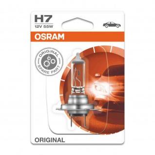 Osram Original Line H7 Blister H7 ECE 12 Volt 55 Watt PX26d Sockel Abblendlicht/Fernlicht/Nebellicht