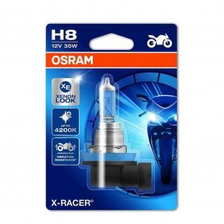 X-RACER® H8 Einzelblister H8 ECE 12 Volt 35 Watt PGJ19-1 Sockel Abblendlicht