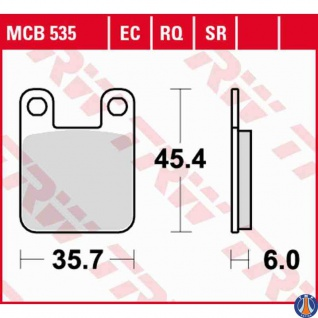 MCB535RQ Bremsbelag Alfer Beta Fantic Gareli Gas Gas Gilera Montesa Sherco