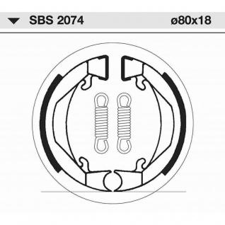 Bremsbacke SBS 2074 Maße: 80 x 18 Honda PX50 KTM Mini SX 50 Puch Cobra Imola Lido Monza