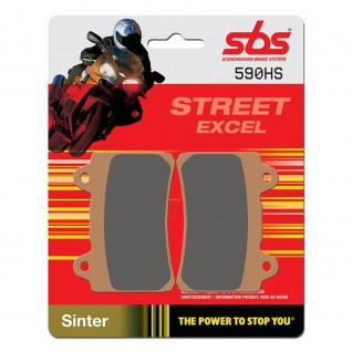 Bremsbelag SBS 590HS Streetexcel Sintermetall Yamaha FZ 750 FZR 400 SRX 600 TDM 850 TDR250 TZR250