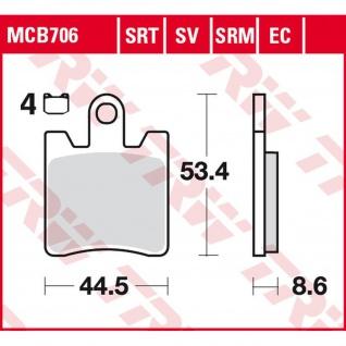 MCB706EC Bremsbelag Daelim Otello Freewing B-Bone Sym GTS Joymax Kawasaki Epsilon Suzuki Burgman