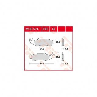 MCB574SI Bremsbelag Honda 75 CRM 125 CR 125 XLR 250 CRM 250 XR 600 XR Kawasaki KX 125 Yamaha WR 125
