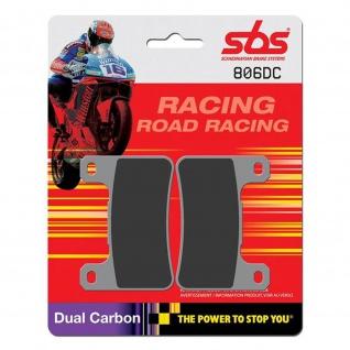 Bremsbelag SBS 806DC Road Racing Dual Carbon Kawasaki Z 1000 Suzuki GSX-R 600 750 1000 M Intruder M109 1800