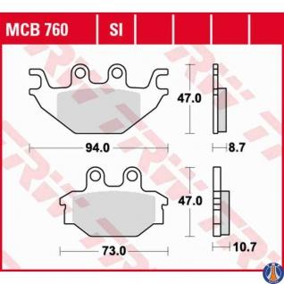 MCB760SI Bremsbelag Adly Hercules Kymco Sym TGB PGO Kawasaki CPI CAN AM Arctic Cact AEON Adly Her Chee