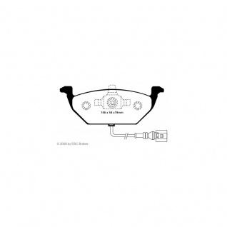 Redstuff Bremsbeläge VW Beetle Caddy Golf Bora Audi A3 Skoda Roomster Yeti Toledo Fabia Seat Ibiza eintragungsfrei