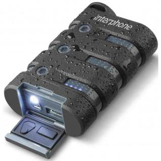 Interphone Powerbank 9000 mAh IP67 5 Volt USB 5 Volt/2, 1A
