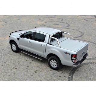 Laderaumabdeckung mit Trenngitter und Zentralverriegelung SET für Ford Ranger Limited Double Cap in Silber ab Baujahr 2012