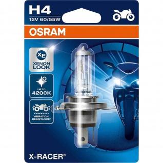 X-RACER® H4 Einzelblister H4 ECE 12 Volt 1 Watt P43t Sockel Abblendlicht/Fernlicht