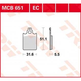MCB651 Bremsbelag Cagiva Italjet LML-Vespa Piaggio