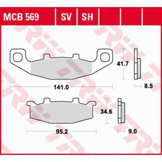 MCB569 Bremsbelag Hyosung Kawasaki Suzuki