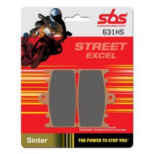 Bremsbelag SBS 631HS Streetexcel Sintermetall Kawasaki Suzuki