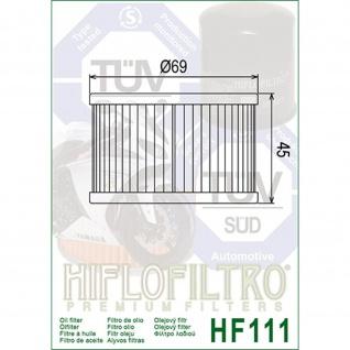 Hf111 Ölfilter Honda Trx Cb Cbr Vt Cx Cmx Muv700 Sxs700 Oem 15412-413-000 15412-413-005 15412-kea-003 - Vorschau 2