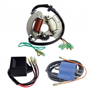 Kit High Output Stator + High Performance CDI Box + External Ignition Coil for Yamaha YFS 200 Blaster 88-02