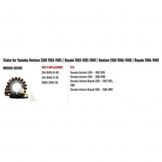 Stator for Yamaha Venture 1200 83-85 Royale 83-85 89 Venture 1300 86-88 Royale 86-89