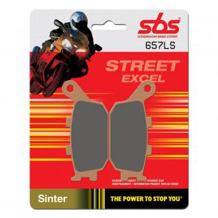 Bremsbelag SBS 657LS Streetexcel Sintermetall Honda CB CBF CBR Yanmaha FZ Suzuki GSF Kawasaki