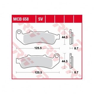 MCB658 Bremsbelag Honda 1000 CBR - F Dual CBS SC24 93-00 vorne SC24 93-00 hinten