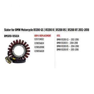 Stator For Bmw Motorcycle R1200 Gs R1200 R R1200 Rs R1200 Rt 12-18 - Vorschau 1