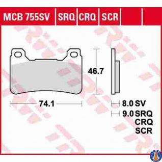 MCB755CRQ Bremsbelag Honda 600 CBR 1000 CBR Firebalde