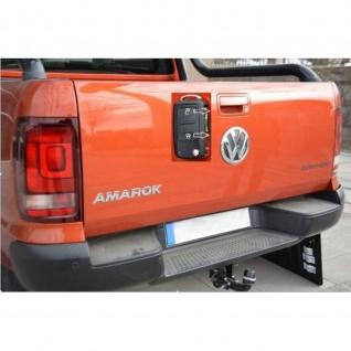 Laderaumabdeckung in schwarz mit Trenngitter und Zentralverriegelung SET für VW Amarok Aventura Double Cab ab Baujahr 2010 - Vorschau 3