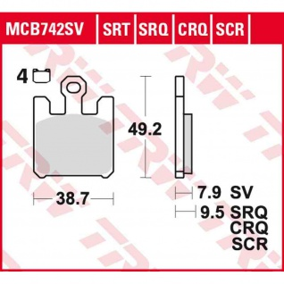 MCB742SRQ Bremsbelag