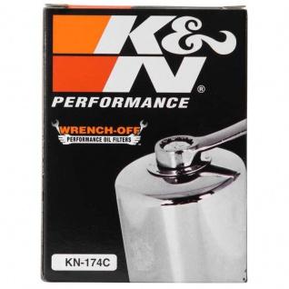 K&N Ölfilter KN-174C Chrom Harley Davidson VRS - xx 02-17 OEM 6379301K