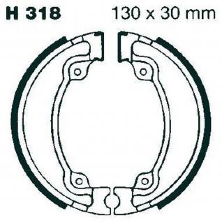 Premium Bremsbacken Water Grooved H318G für Honda