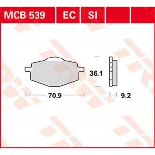 MCB539SI Bremsbelag Gilera Yamaha