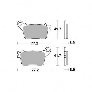 Bremsbelag Sbs 834hf Street Ceramic Honda Cb600 Cbr 600 Cbr 1000 Suzuki Gsx-r 600 750 - Vorschau 2