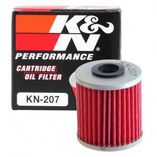 K&N Ölfilter KN-207 Kawasaki KXF 250 450 Suzuki FL125 Address RMZ BETA LML Scooter 15.26060.000 52010-0001 16510-35G00 K5201-00001