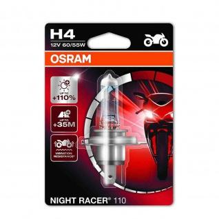 Osram NIGHT RACER® 110 H4 +110% Einzelblister 64193NR1-01B ECE H4 12 Volt 60/55 Watt Ablendlicht/Fernlicht