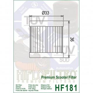HF181 Oilfilter Piaggio Sfera 125 RST Vespa ET4 125 Typ ZAPM04 Aprilia Habana Mojito 125 800093541 210410229 410229