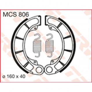 MCS806 Bremsbacken 160x40 Honda 500 CB CX TRX 600 VT 650 CBX CX CL 750 VF 750 VT Shadow
