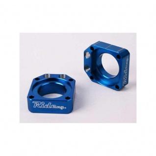 Achsblöcke / Axel Blocks blau Kawasaki KX125/250 03-07 KX250F 04-16 KX450F 06-15 KLX450R Suzuki RMZ250/450 05-17