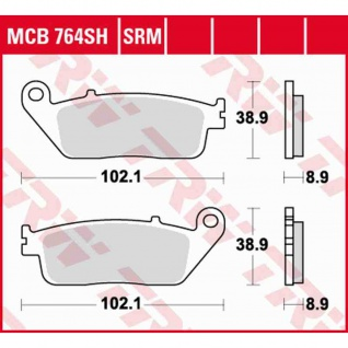 MCB764SRM Bremsbelag Honda 400 FJS Silverwing Honda 600 FJS 01-16 hinten