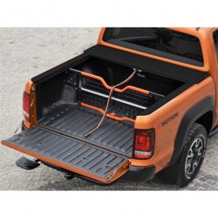 Laderaumabdeckung mit Trenngitter und Zentralverriegelung SET für VW Amarok Double Cab in schwarz ab Baujahr 2010