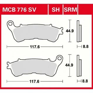 MCB776SV Bremsbelag Honda CBR CB NC NSA NT Deauville XL VA Transalp VFR Varadero Suzuki 1800 VLR - Intruder C1800R