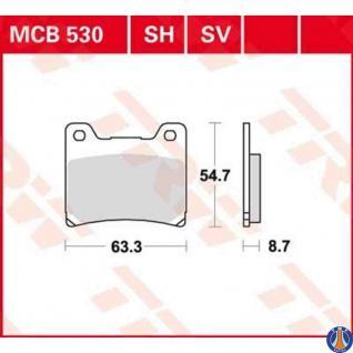 MCB530 Bremsbelag Yamaha 125 TZR RD FZ FZR 850 TDM XJ FJ VMX XJR YZF