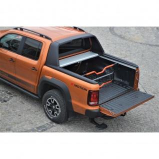 Laderaumabdeckung Roll Cap mit Trenngitter und Zentralverriegelung SET für VW Amarok Canyon Double Cab in Silber ab Baujahr 2010 - Vorschau 3
