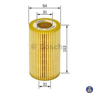 Bosch Ölfiter BMW P9252 1457429252 Filtereinsatz, Ø 64 mm, Höhe 153 mm