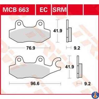 MCB663EC Bremsbelag Aeon CPI Honda Italjet Keeway Kymco Rex Suzuki Sym