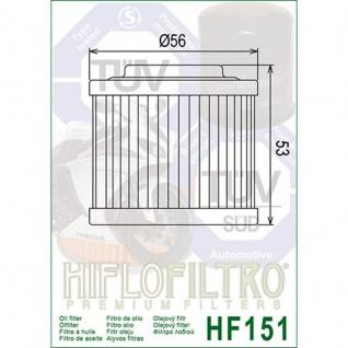 Hf151 Ölfilter Aprilia Bmw Ktm Muz Can Am Ccm 0256185 11412343118 11412343452 711256185 7700180 - Vorschau 2