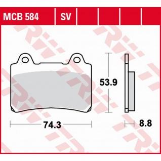 MCB584SV Bremsbelag Yamaha 750 1000 FZR 800 TRX 1200 FJ 1300 XVZ 86-00