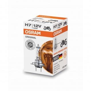Osram Original Line H7 Faltschachtel Motorrrad H7 ECE 12 Volt 55 Watt PX26d Sockel Abblendlicht/Fernlicht/Nebellicht