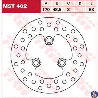 MST402 Bremsscheibe starr Kawasaki KFX 400 Suzuki LT 250 LTZ 250 LTZ 400