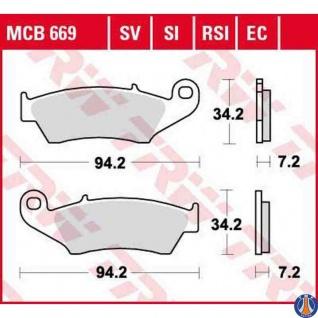 MCB669RSI Bremsbelag AJP Aprilia Beta Bimota CPI Fantic HM Gas Gas Honda Kawasaki Suzuki Yamaha