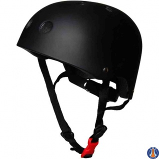 Kiddimoto Helm Mattschwarz Größe M - 53-58 cm, geprüft nach EC EN1078