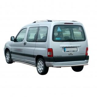 Dachrelinge Peugeot Partner Baujahr 1996-2007 Aluminium in Chrom-Optik mit TÜV und ABE