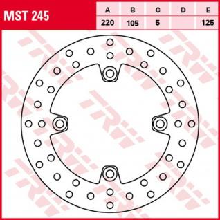 MST245 Bremsscheibe starr Honda Triumph