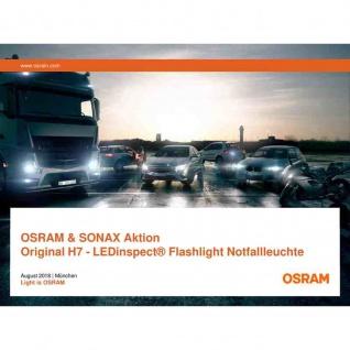 Superdeal-10 OSRAM + Sonax ein gute Sicht Paket Lampe H7 Taschenlampe Scheibenreinung Tücher Microfaser Tuch
